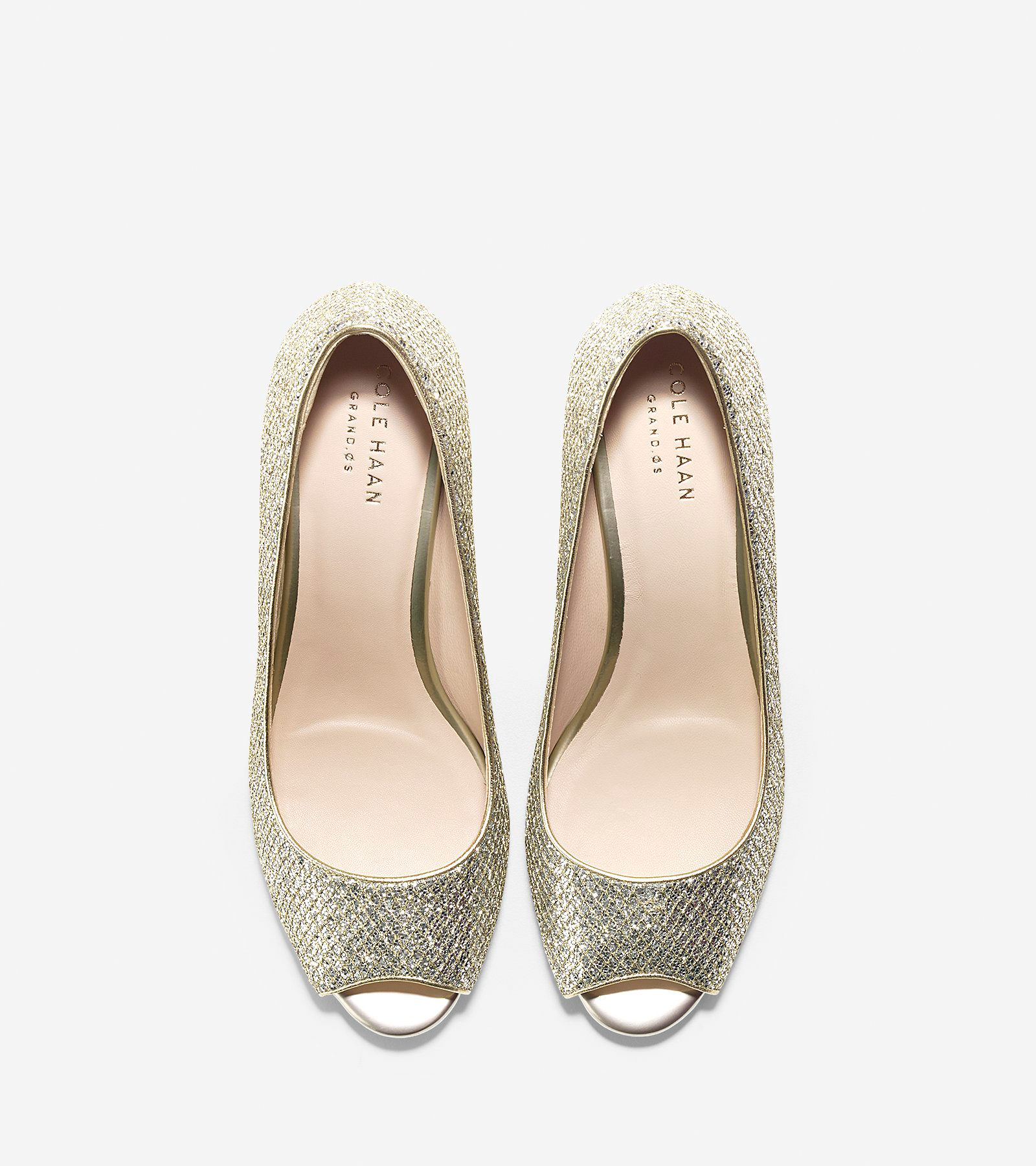 c49750eac272 Sadie Open Toe Wedge (65mm). $180.00 Now $124.95. Color Gold-silver Glitter  ...