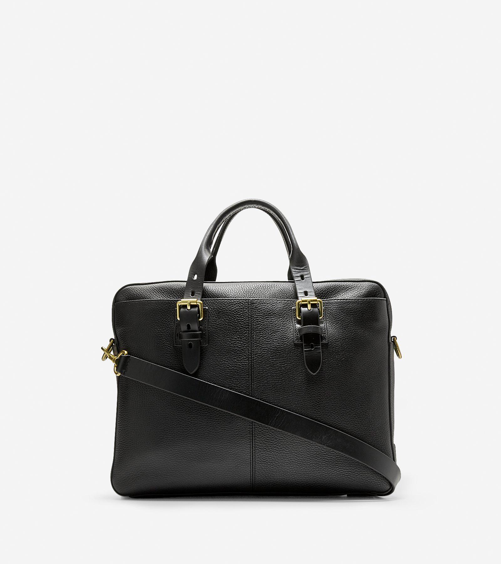 9ace6675dd Men's Brayton Attache Case in Black Grained Leather | Cole Haan US