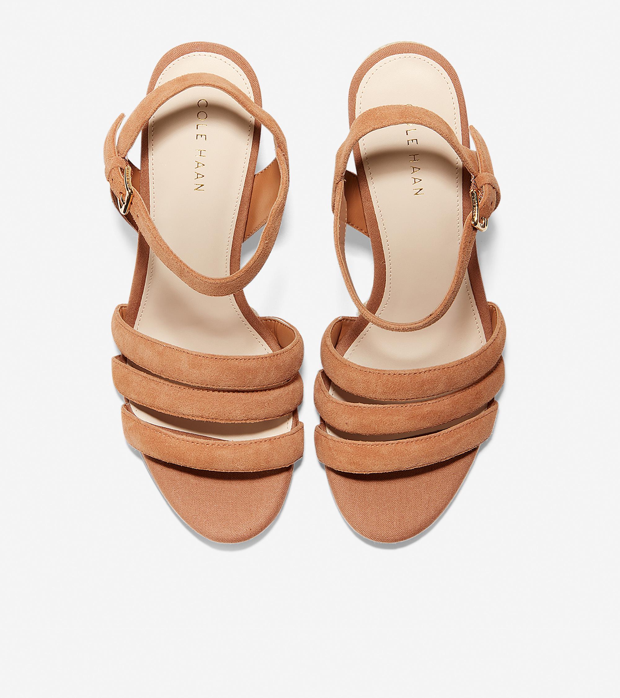 c3fb906b9da75 Women's Jasmine Espadrille Wedge Sandal (60mm) in Pecan Suede | Cole ...