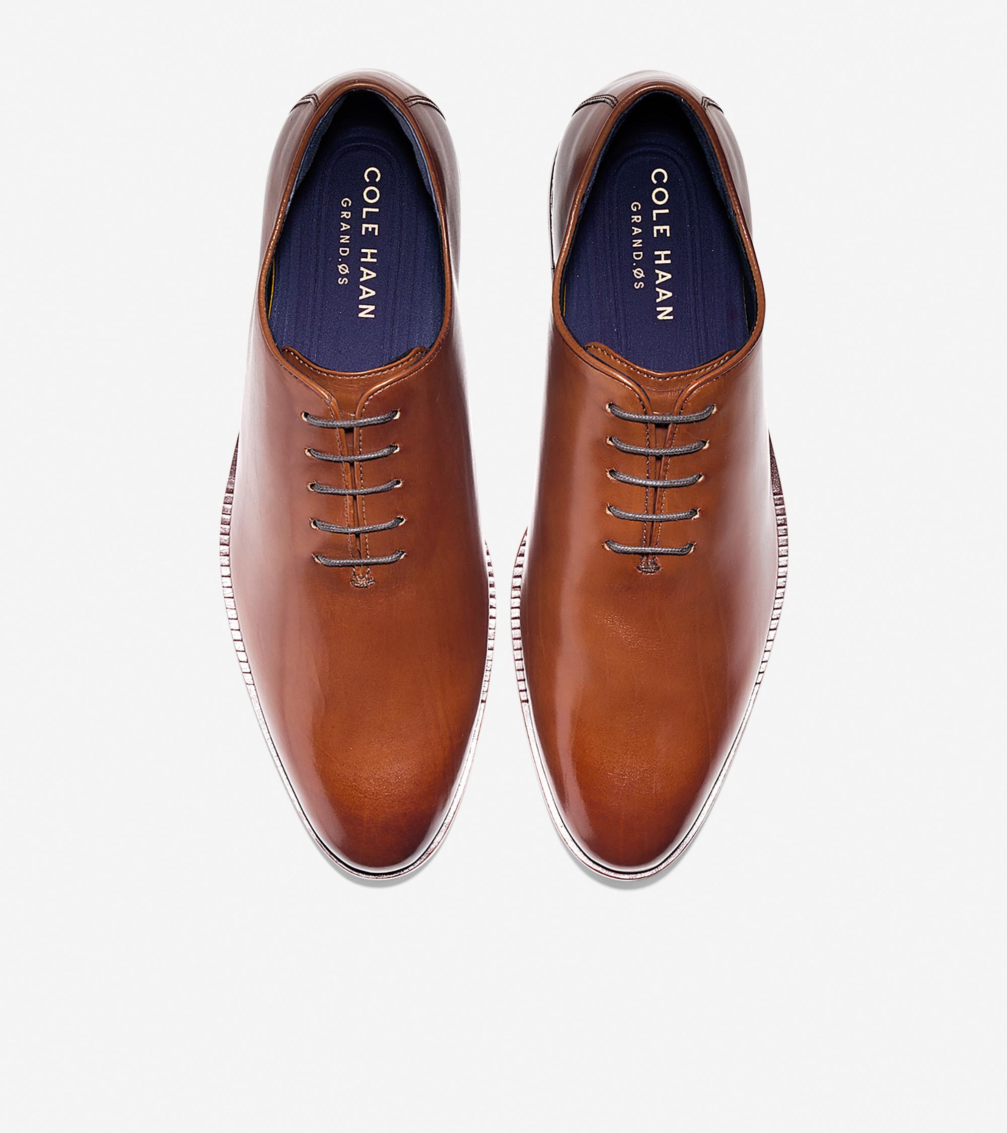 bf9fa7fe84755 Men's Washington Grand Wholecut Oxford in British Tan Leather   Cole ...