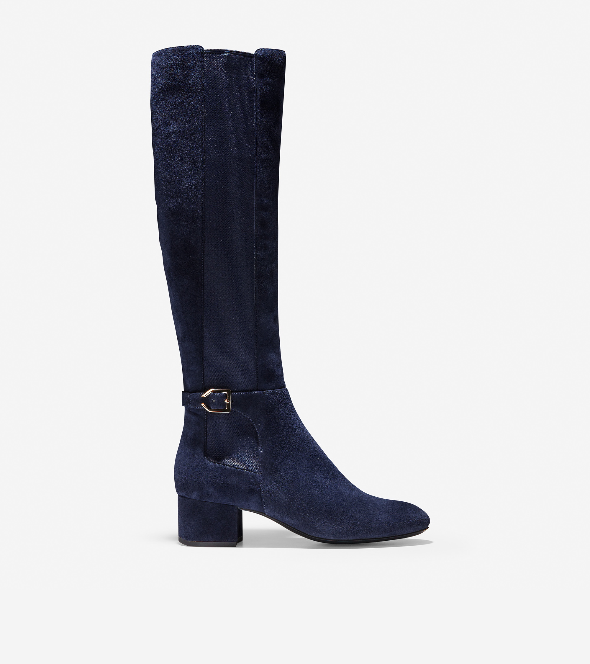 e54dbbbb3 Women's Avani Stretch Boot (45mm) in Marine Blue Suede | Cole Haan US
