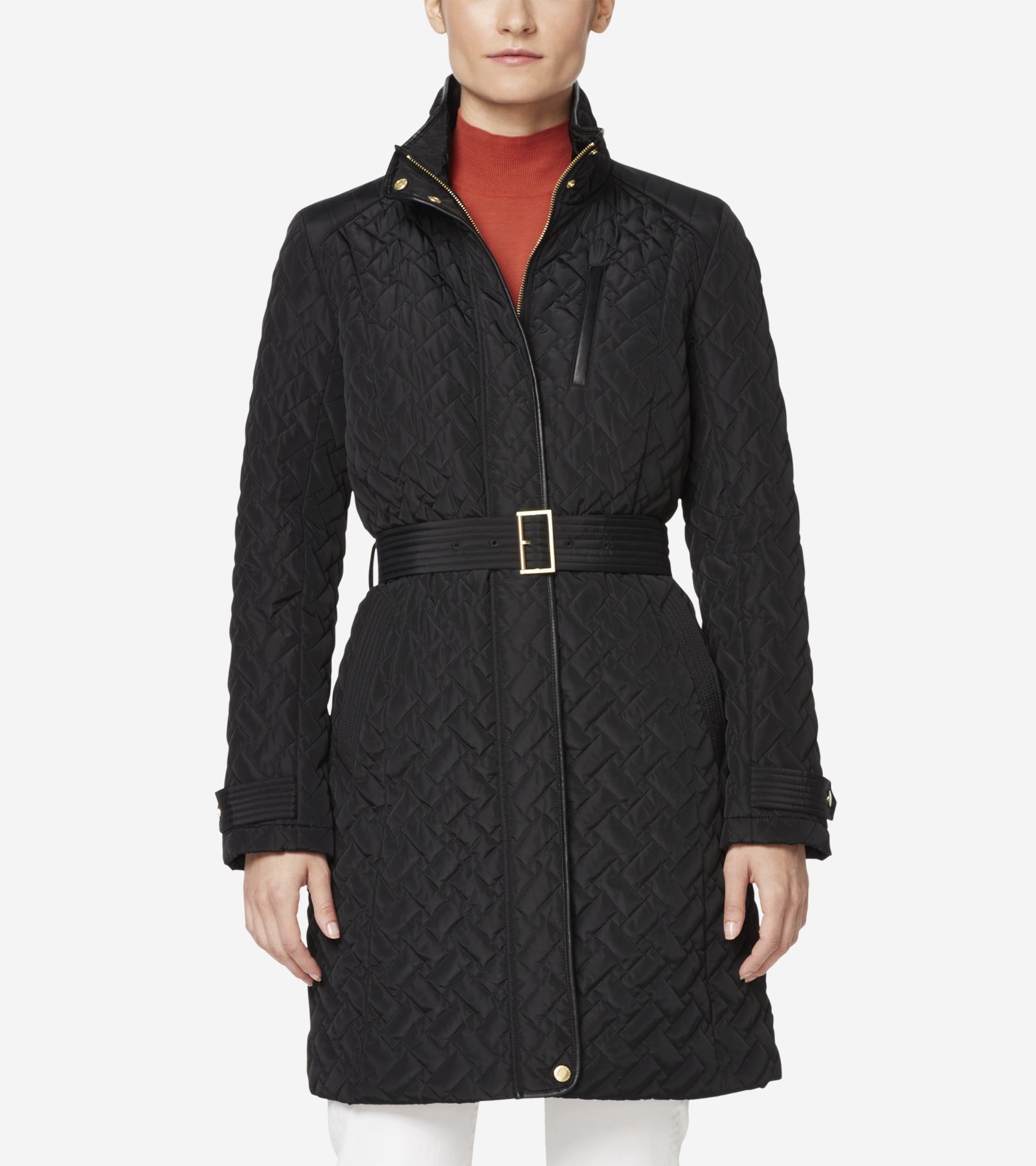 e71aa543a Signature Quilted Zip Front Coat