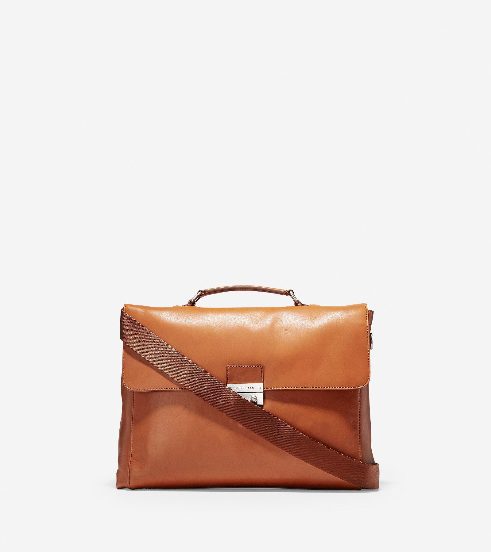 ddd24b603cb Men's Warner Briefcase in British Tan Leather | Cole Haan US