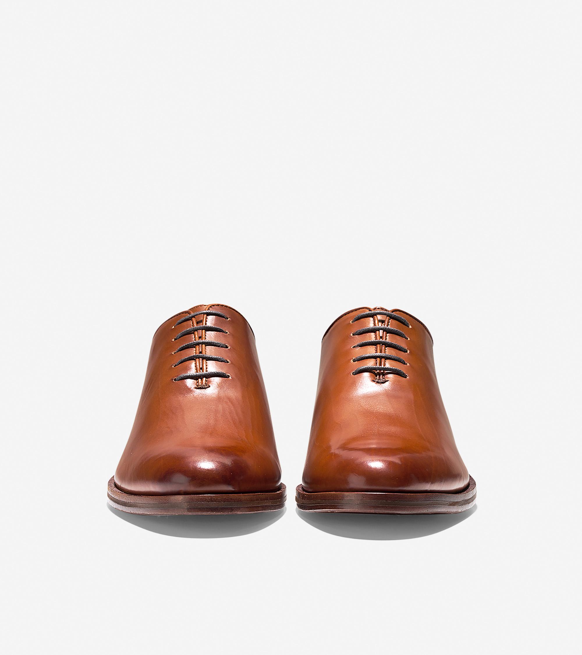 Men's Washington Grand Wholecut Oxford in British Tan Leather | Cole