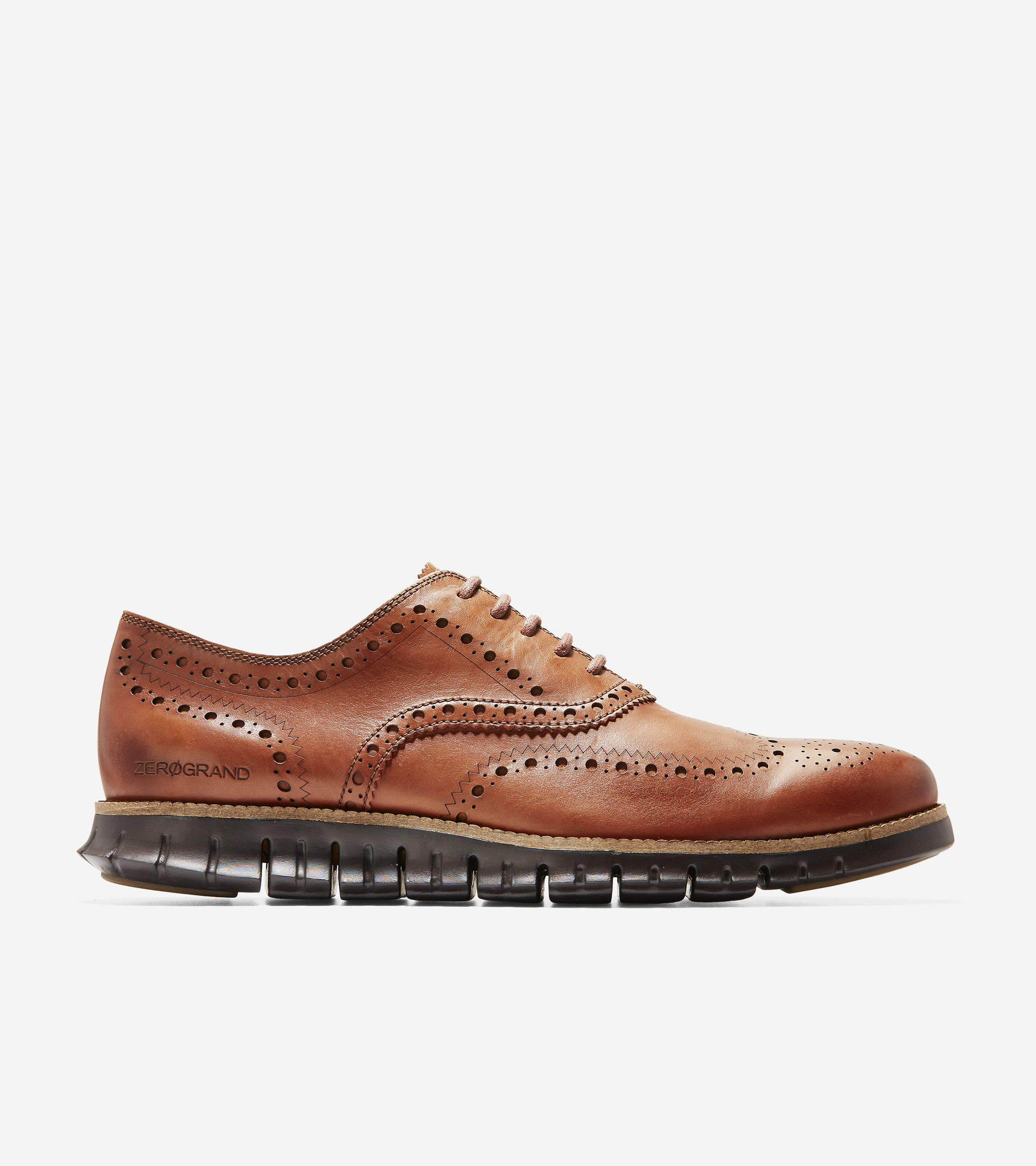 7d4b7a3772a8 Men's ZERØGRAND Wingtip Oxford in British Tan-java | Cole Haan US