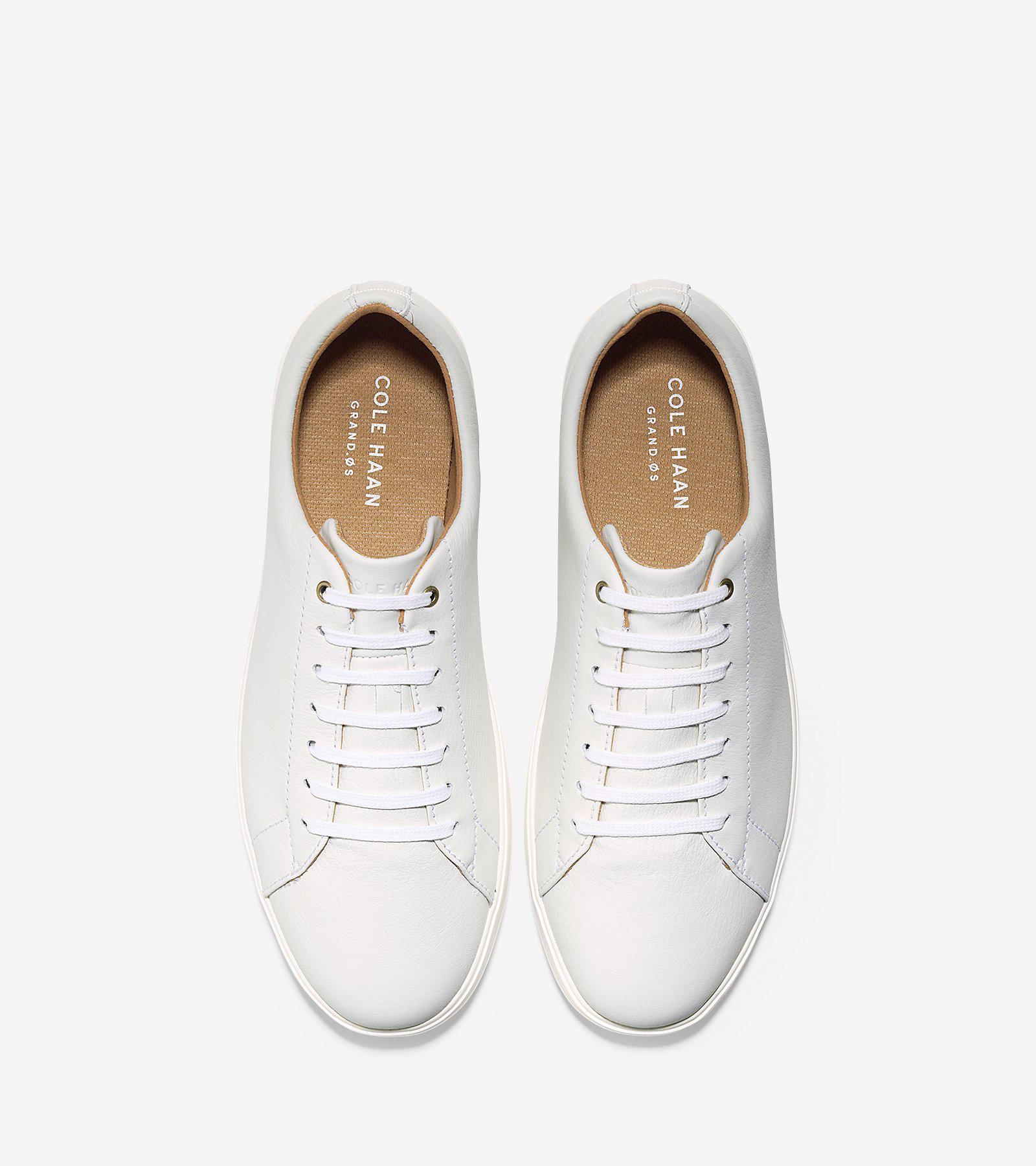 a6df21b553 Men's Grand Crosscourt Sneaker in White Leather | Cole Haan US
