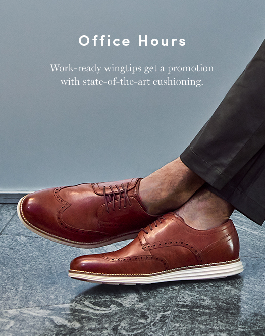 Office Hours: Work-ready wingtips get a promotion with state-of-the-art cushioning.