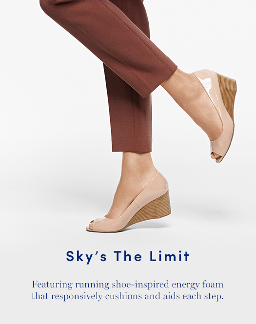 Sky's the Limit: Featuring running shoe-inspired energy foam that responsively cushions and aids each step.
