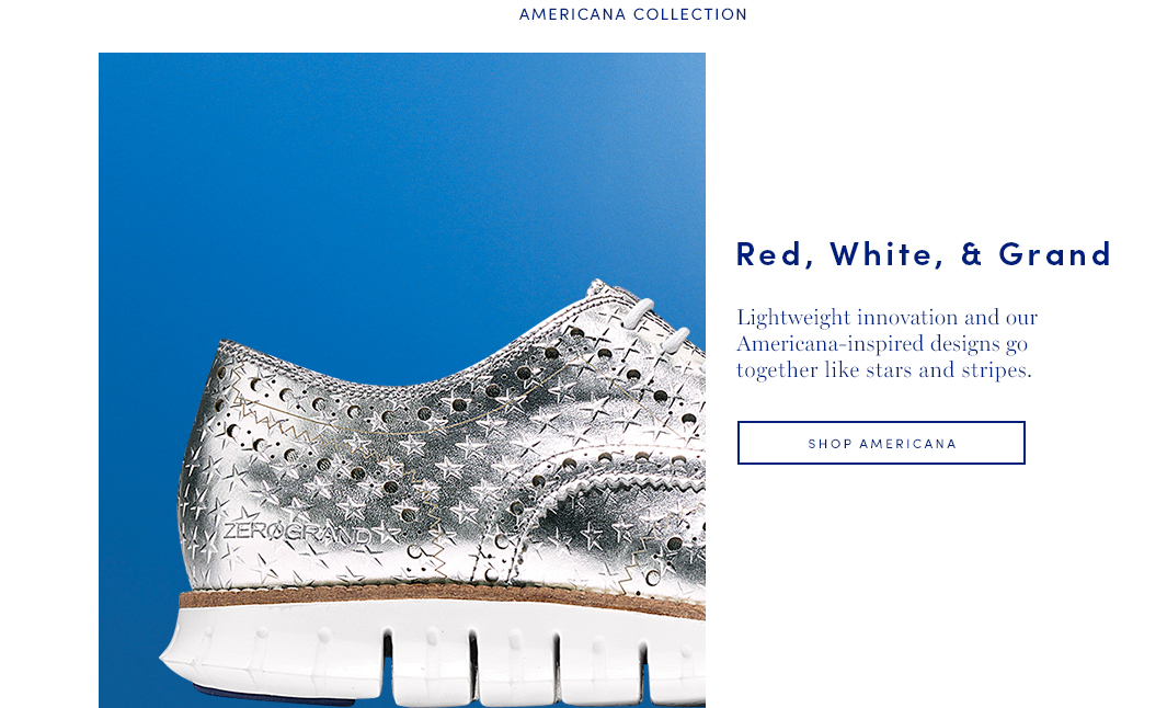 Red, White, and Grand: Lightweight innovation and our Americana-inspired designs go together like stars and stripes