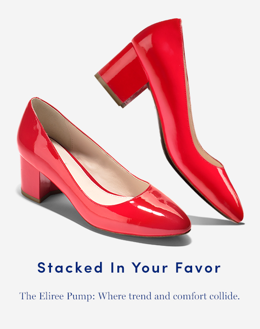 Stacked in Your Favor: The Eliree Pump: Where trend and comfort collide.