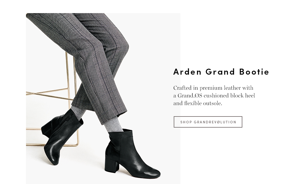 Grand Parts: Featuring premium leather with a Grand.OS cushioned block heel and flexible runner outsole providing traction that keeps on your feet