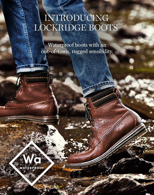 Introducing Lockridge Boots: Waterproof boots with an out-of-town, rugged sensibility.