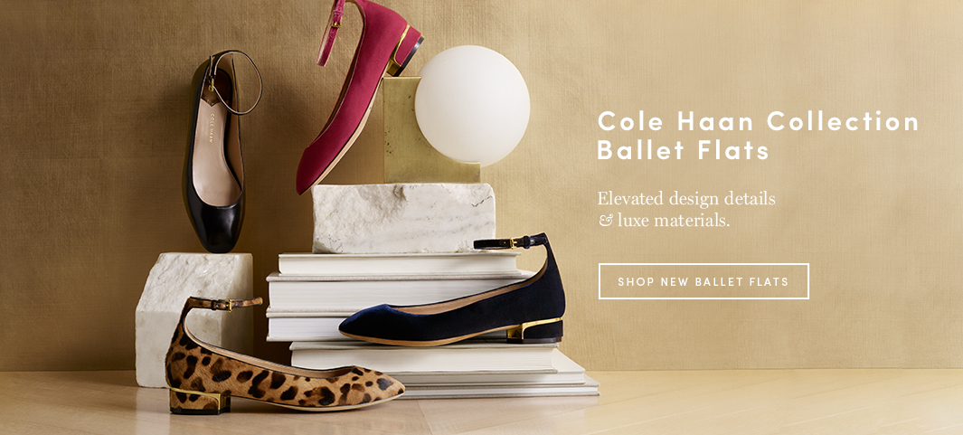 Cole Haan Collection Ballet Flats: Elevated design details & luxe materials.