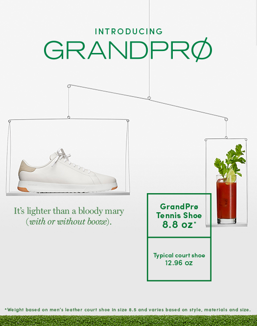 Introducing GrandPro: Topping out at 8.8 ounces, it's the ultimate get-up-and-go shoe.