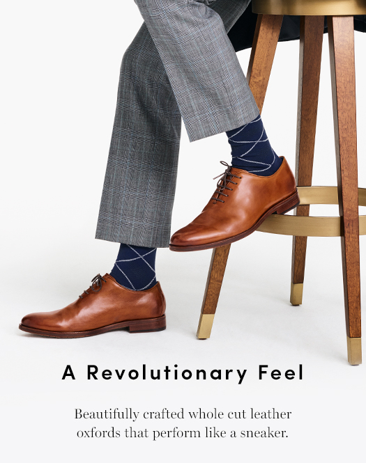 A Revolutionary Feel. Beautifully crafted whole cut leather oxfords that perform like a sneaker