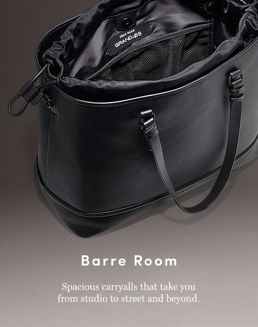 Barre Room: Spacious carryalls that take you from studio to street and beyond.