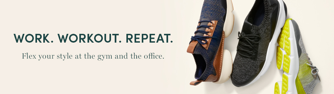 Work. Workout. Repeat. Flex your style at the gym and the office