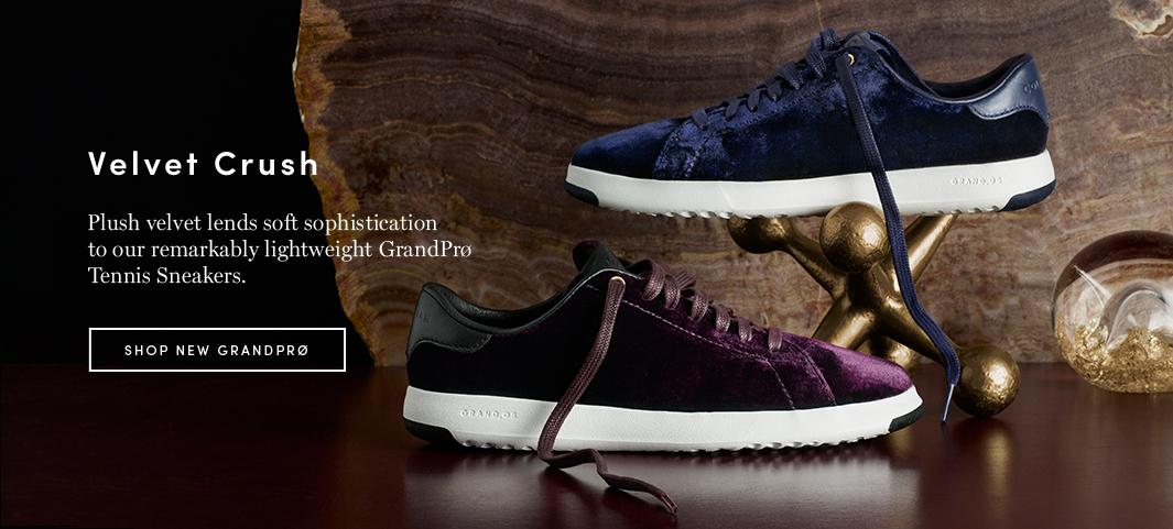 Velvet Crush: Plush velvet lends soft sophistication to our remarkably lightweight GrandPro Tennis Sneakers.