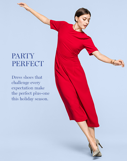 Party Perfect: Dress shoes that challenge every expectation make the perfect plus-one this holiday season.