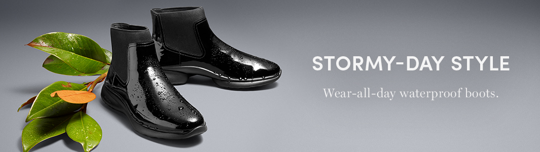 Stormy-Day Style. Wear-all-day waterproof boots