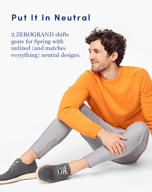 Put it in Neutral: 2.ZERØGRAND shifts gears for Spring with unlined (and matches everything) neutral designs.