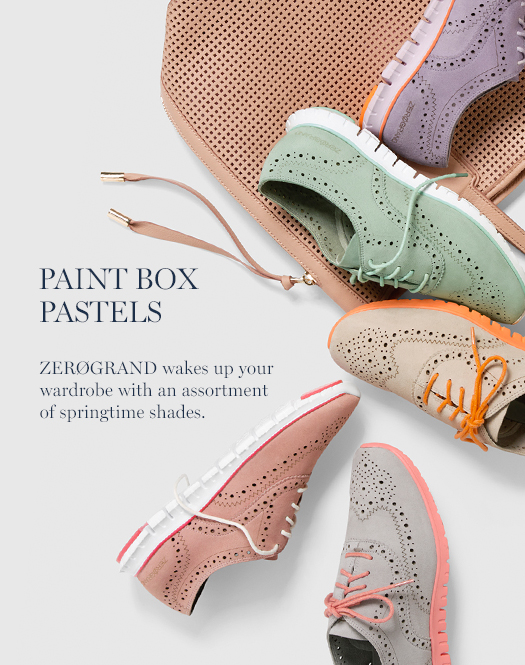 Paint Box Pastels: ZERØGRAND wakes up your wardrobe with an assortment of springtime shades.