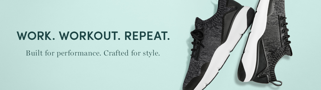 Work. Workout. Repeat. Built for performance. Crafted for style
