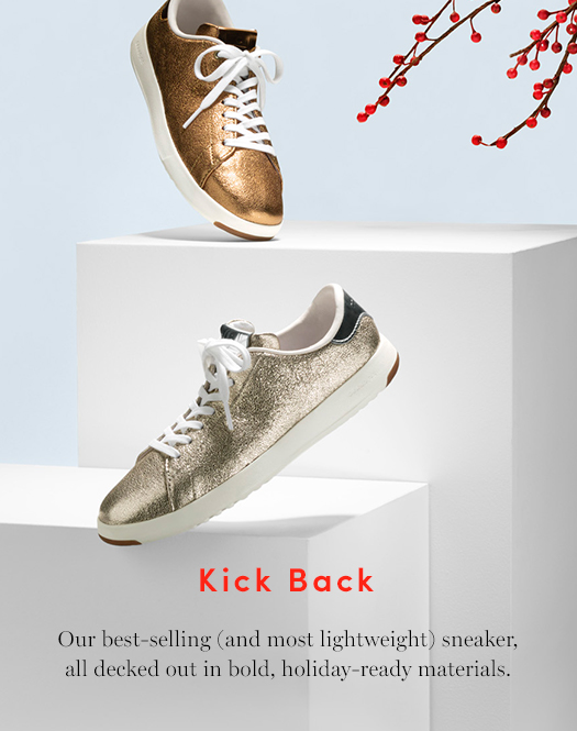 Kick Back: Our best-selling (and most lightweight) sneaker, all decked out in bold, holiday-ready materials.