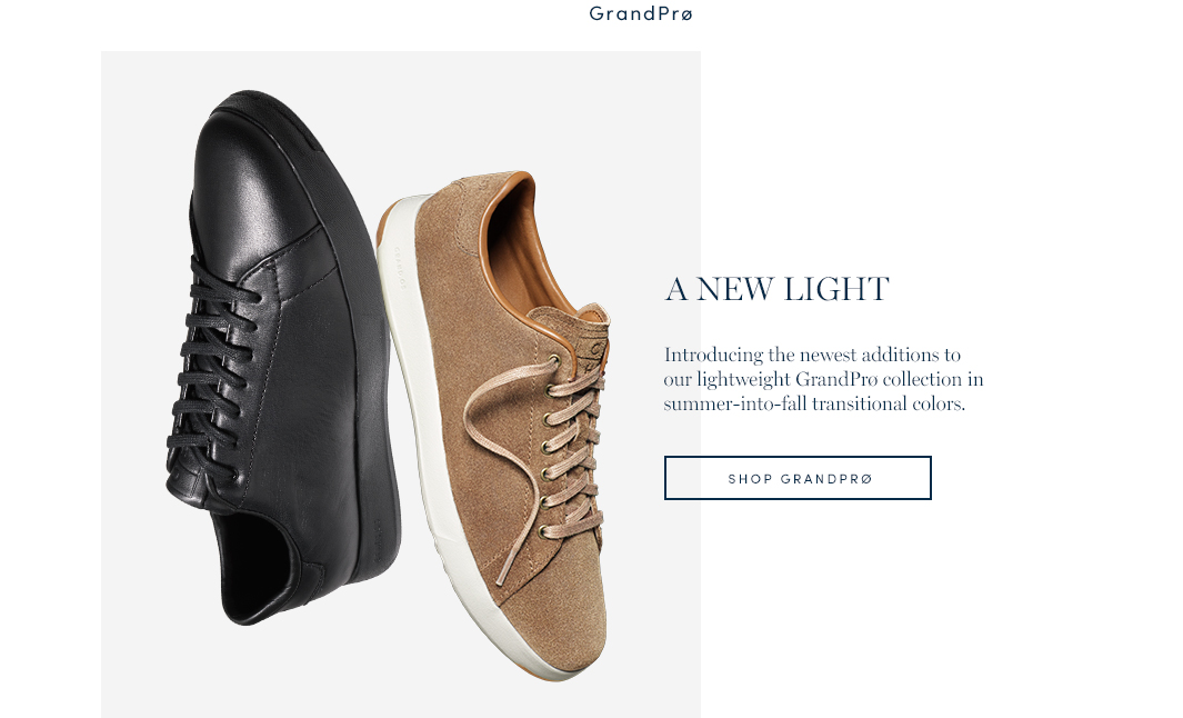 GrandPro. A New Light. Introducing the newest additiona to our lightweight GrandPro collection in summer-into-fall transitional colors. Shop GrandPro