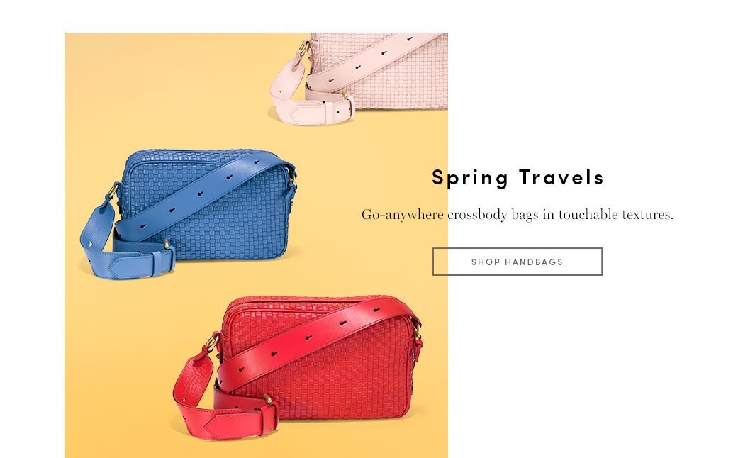 Interlocking style - Woven bags add tactile detail to any kind of look