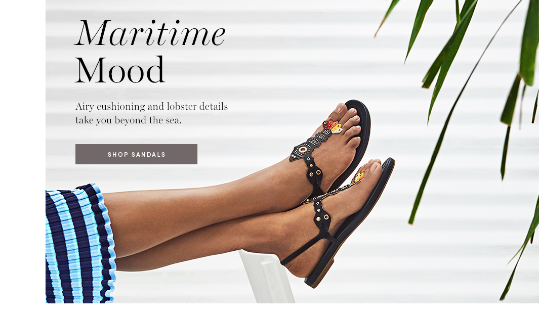 Maritime Mood: Airy cushioning and lobster details