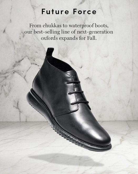 Future Force: From chukkas to waterproof boots, our best-selling line of next-generation oxfords expands for Fall.