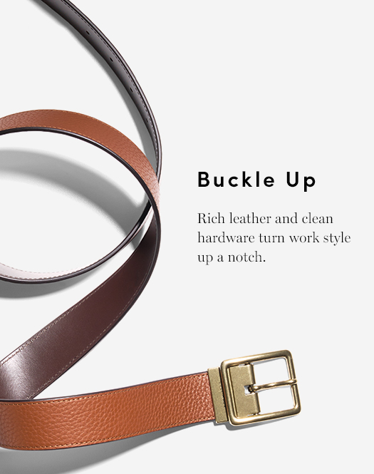 Buckle Up - Rich leather and clean hardware turn work style up a notch