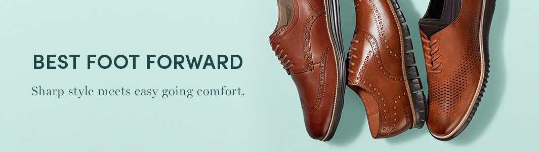 Best Foot Forward. Sharp style meets easy going comfort