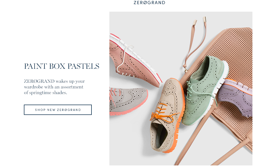 Paint Box Pastels. ZeroGrand wakes up your wardobe with an assortment of springtime shades. Shop New ZeroGrand.