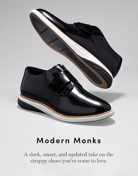 Modern Monks: A sleek, smart, and updated take on the strappy shoes you've come to love.