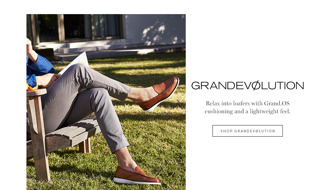 GRANDEVØLUTION - Relax into loafers with Grand.ØS cushioning and a lightweight feel