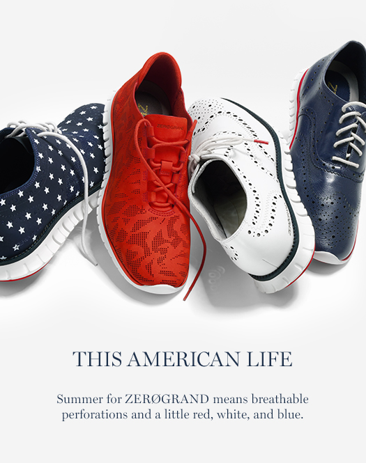 This American Life: Summer for ZERØGRAND means breathable perforations and a little red, whit, and blue.