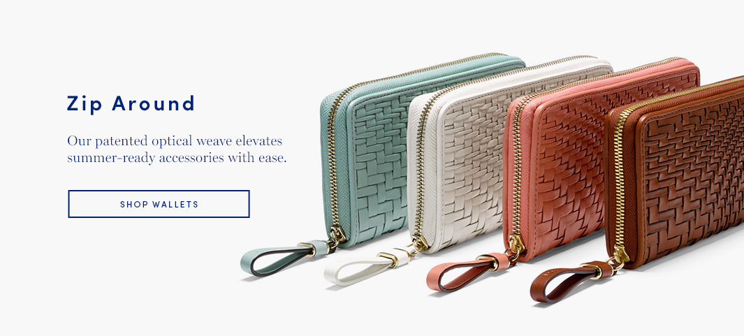 Zip Around: Our patented optical weave elevates summer-ready accessories with ease.